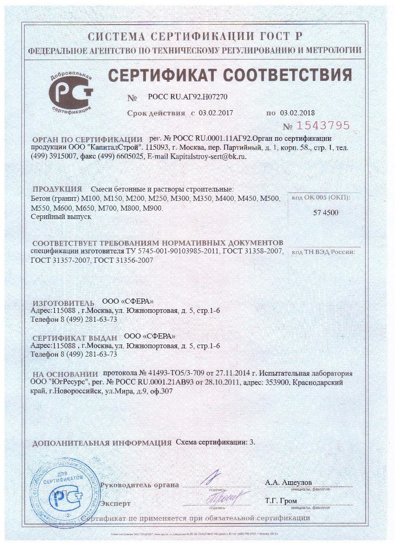 Сертификат соответствия на растворы цементные марка 100 monolit бетон